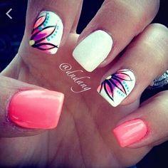 Acrylic nail design for summer