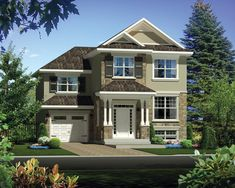 This traditional design floor plan is 1592 sq ft and has 3 bedrooms and has 1 bathrooms. Surface Habitable, Porche, Electric Fireplace, Home Design Plans, Traditional Design, Cottage Style, Square Feet, My Dream Home, Facade
