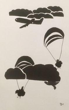 Parachuting Hens