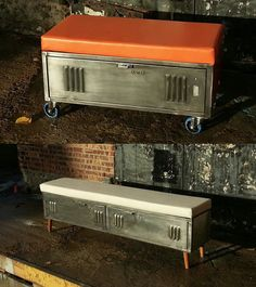 Locker Bench by ArtSpace Industrial Furniture | Please subscribe to my weekly newsletter at upcycledzine.com ! #upcycle