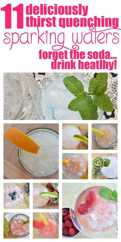 MOVE OVER DIET SODA! These 11 deliciously refreshing sparkling waters are the new thrist quencher! Refreshing Drinks, Summer Drinks, Fun Drinks, Healthy Drinks, Nutrition Drinks, Healthy Food, Diet Drinks, Beverages, Water Recipes