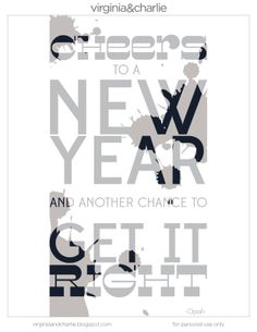 Virginia and Charlie: New Years Printable & GIVEAWAY