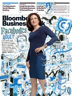 I love how Sheryl Sandberg can still bring her femininity to business.