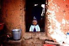Homestay Amantani island. Lake Titicaca, Peru.