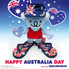 Happy Australia Day from this cute koala! Full blog post here: http://www.smilingbear.com/blog/happy-australia-day-cute-koala-bear  #AustraliaDay #smilingbear #smilemore #koala #koalabear #bear #smile #smiling #happy #cute #kawaii #australia #aussie #sydney #beach #manga #art #design #illustration #cartoon #characterdesign #fun #GIF #otaku #plush