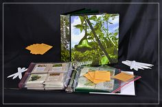 Master Gardeners Seed Organizer Binder Kit - DIY: binder with baseball card holder pages, or 3x5 photo pages. Can also use 8x10 pages with ziplock edge from Staples for bigger seeds.
