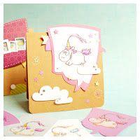 """cardmaking with digi stamp """"unicorn"""" #cardmaking #digistamp #illustration #unicorn #einhorn"""