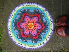 Star Flower Mandala made by Lucy of Attic24 #Crochet #FreePattern: http://zootyowlcards.blogspot.co.uk/2014/04/starflower-mandala-pattern.html