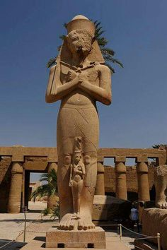 Ramesses II Statue at Karnak Temple at Luxor, Egypt.