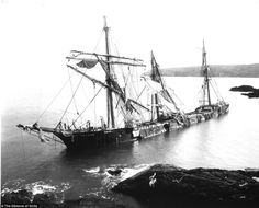 Bad weather: The Bay of Panama was wrecked under Nare Head, near St Keverne, Cornwall during a blizzard in 1898