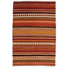 Hand-woven Sindhi Rust Jute Area Rug (8' x 11')