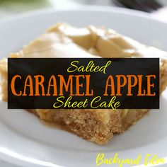 Who doesn't like caramel? What about apples with caramel?  This combines the best of both! Learn how to make salted caramel apple sheet cake!