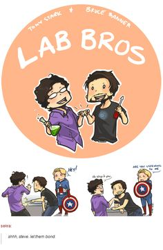 Bruce Banner and Tony Stark: LAB BROS. (Avengers)