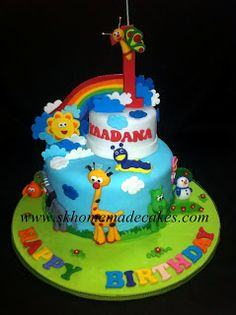 """At SK we use only the Best Ingredients to provide you a Quality Experience, with an affordable price. And the freshest cake which is """"Made to Order"""". 1st Birthday Parties, 3rd Birthday, Birthday Ideas, Baby Tv Cake, Fresh Cake, Tv Themes, Cakes For Boys, Homemade Cakes, Bambam"""