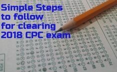 Simple Easy steps to Clear CPC exam in 2018