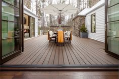 Many homeowners think of spring and early summer as the premium time to enjoy the outdoors, but that's no reason to let their dreams of creating a beautiful new outdoor living space hibernate through another winter. via http://www.trex.com/inspiration/blog
