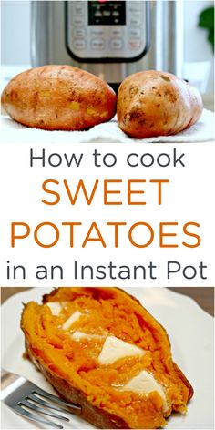 How to Cook Sweet Potatoes in an Instant PotYou can find Instant pot recipes and more on our website.How to Cook Sweet Potatoes in an Instant Pot Gourmet Recipes, Crockpot Recipes, Cooking Recipes, Healthy Recipes, Easy Recipes, Healthy Food, Cooking Tips, Cooking Kale, Thai Cooking