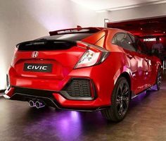 The 2017 Honda Civic Hatchback with a 1.5 turbo and 180hp 1st photo in Red #Honda #HondaCivic #CivicHatch #TheHatchIsBack