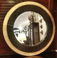 Espejo piedras swarovski hojilla plata
