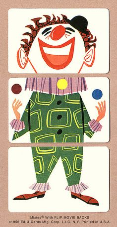 Juggling Clown | 1956 Mixies® by Ed-U-Cards