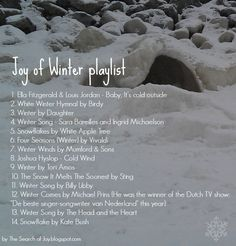 Winter playlist without christmas songs.