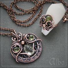 Alba Комплект с зеленым аметистом и перидотом