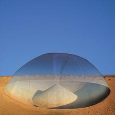 """""""Desert Breath"""" enclosed dome in the egyptian desert."""