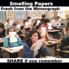 I remember how I'd always smell them, even though I didn't like the smell!