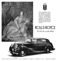 Rolls Royce – One Stop Classic Car News & Tips Bentley Rolls Royce, Rolls Royce Cars, Vintage Cars, Antique Cars, Classic Rolls Royce, Car Posters, Car In The World, Victoria And Albert Museum, Vintage Advertisements