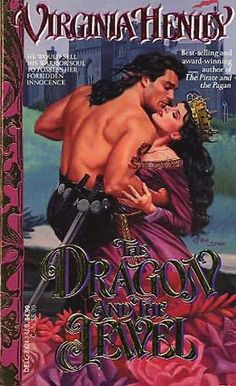virginia henley old cover | book cover of The Dragon and the Jewel
