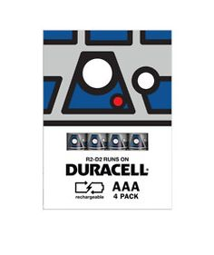 R2-D2 Styled Duracell batteries.