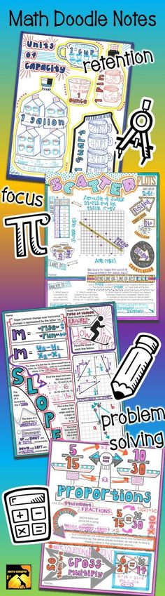 """""""doodle notes"""" boost memory, focus, new learning, problem solving abilities, and more!"""