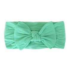 Baby Bling Knot Headband - Mint-These classic knots are perfect for baby girl!  Dress up any outfit with this cute bow.  Just pick your color! BabyCubby.com