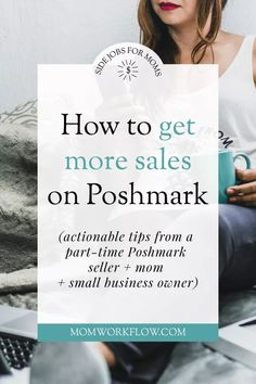 """Looking for how to get more Poshmark sales? Here's a few tips you'll find helpful! Get to know the brands that sell, become familiar with the """"closet clear out"""" event, and more. Making Money On Ebay, Sell My Clothes, Working People, Work From Home Moms, Selling On Poshmark, Selling Online, Photo Tips, Cover Photos, Making Ideas"""