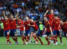 España clasificada para la final. Spain, soccer