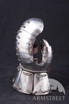 Gants médiévaux de combat avec le pouce masqué d'Armstreet