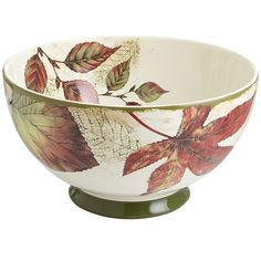 "Asheville Serving Bowl - Pier One  $24.95   •8.27""Dia x 4.53""H"