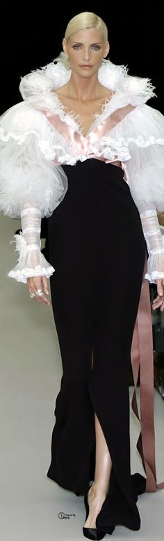 Chanel ~ Luxurious Evening Gown, Black/White