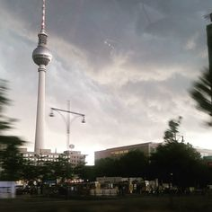 There was a crazy storm in #berlin by moniapalosz