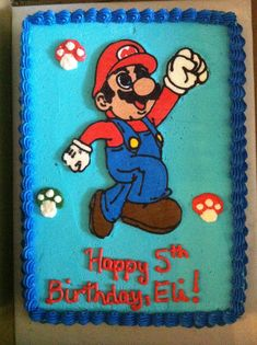 Bolo Do Mario, Super Mario Cake, Super Mario Birthday, Twin Birthday, Mario Bros., Superhero Birthday Party, Mario Party, 4th Birthday Parties, Birthday Cakes