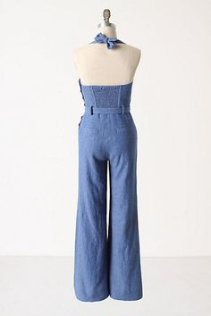 Back of the Anthro chambray romper. Copy!