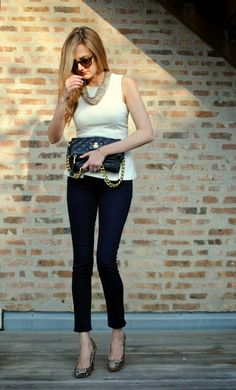 Love this classy outfit, i have the pants but would love a top like this one