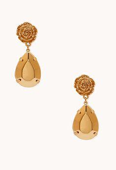 Rose Gemstone Drop Earrings   FOREVER21 - 1000111622