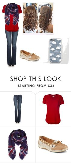 """""""Katie Style"""" by dancer0202 ❤ liked on Polyvore featuring Joe's Jeans, MICHAEL Michael Kors, Humble Chic and Sperry"""