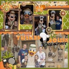 Tusker House Breakfast - MouseScrappers - Disney Scrapbooking Gallery