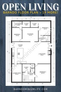 Here You Ll Find 20 Of The Most Popular Floor Plans For Barndominiums Including Spacious Metal Hom Cabin Floor Plans Barndominium Floor Plans Loft Floor Plans
