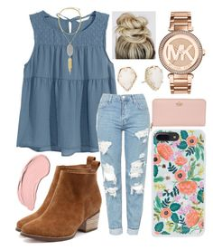 """""""Cute """" by jadenriley21 on Polyvore featuring H&M, Kendra Scott, Topshop, Rifle Paper Co, NYX, Kate Spade and MICHAEL Michael Kors"""