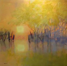 """Pam Hassler """"Wetlands: Spring Green"""""""