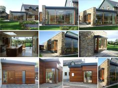 Contemporary extension to an existing stone built dormer, providing new open plan kitchen & living areas close to Bandon, Co. House Extensions, Open Plan Kitchen, Kitchen Living, Living Area, Cork, Construction, House Design, Contemporary, Mansions
