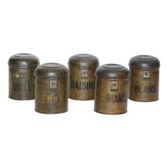Set of 5 Antique English Canisters - $375